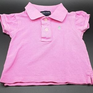 Girls 12M Polo in pink